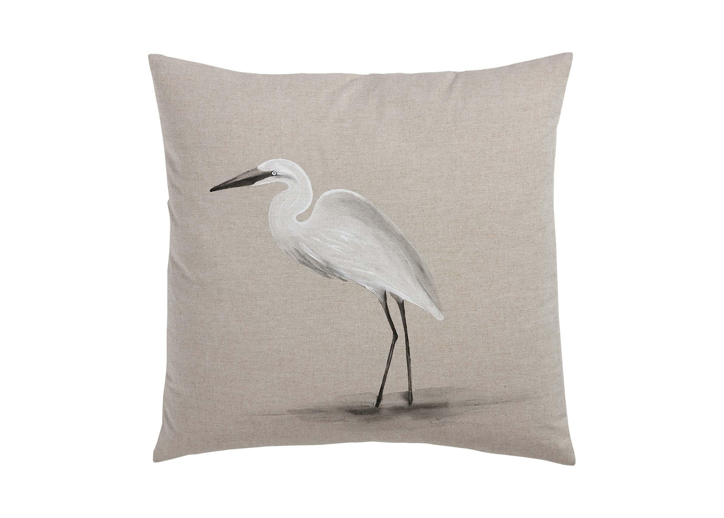 HandPainted Bird on Sand Pillow  Pillows  Ethan Allen