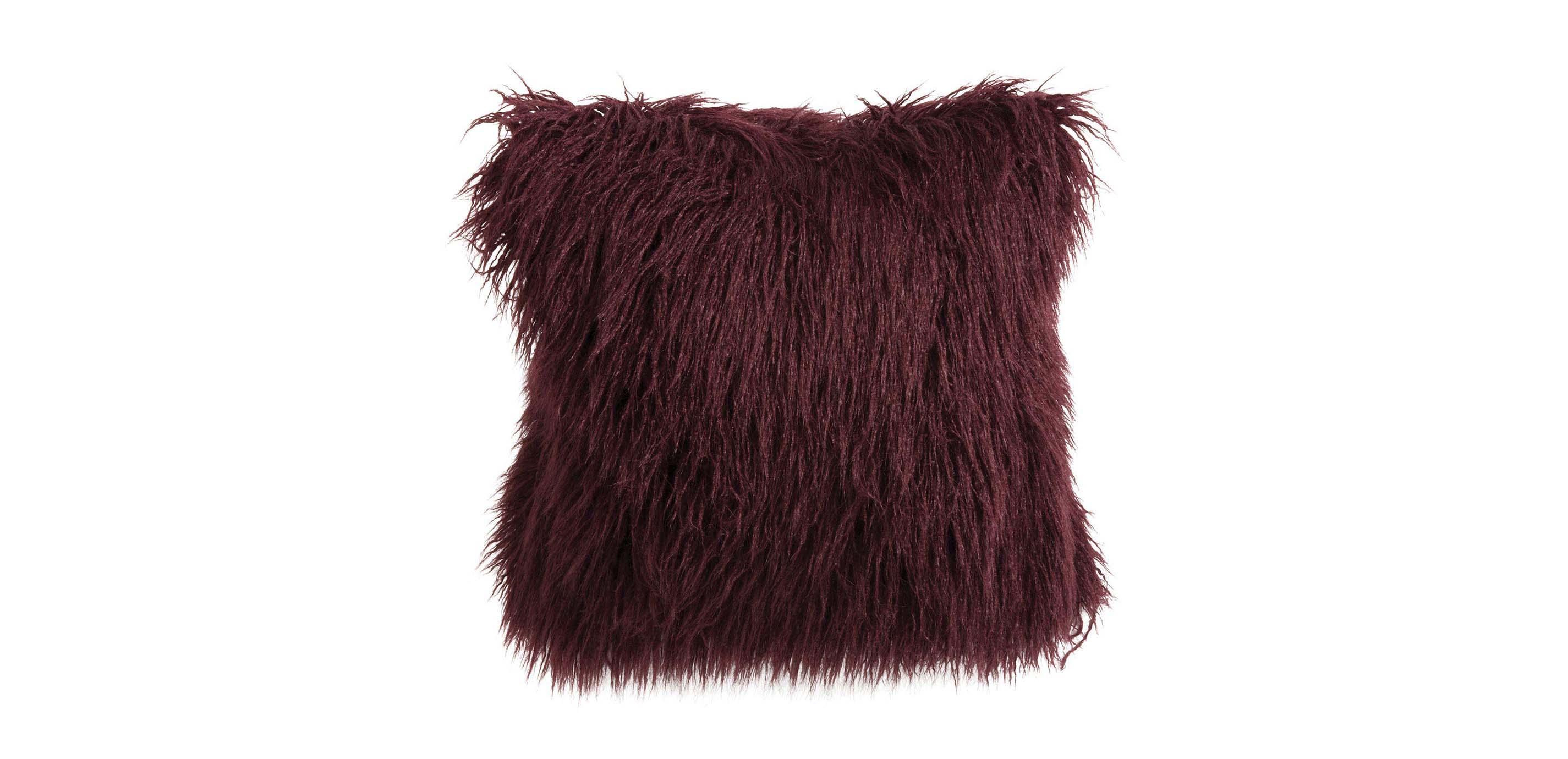 Modern Faux Fur Throw Pillow  Ethan Allen Throw Pillows