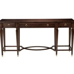 Family Room Sofa Table Leather Recliner Covers Elmont Console Tables Ethan Allen