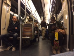 A rare uncrowded Metro train.