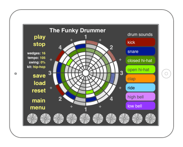 math-friendly Funky Drummer lesson