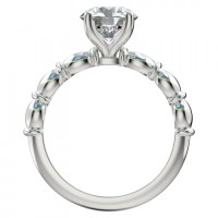 Four Prong Sculptural Solitaire Engagement Ring