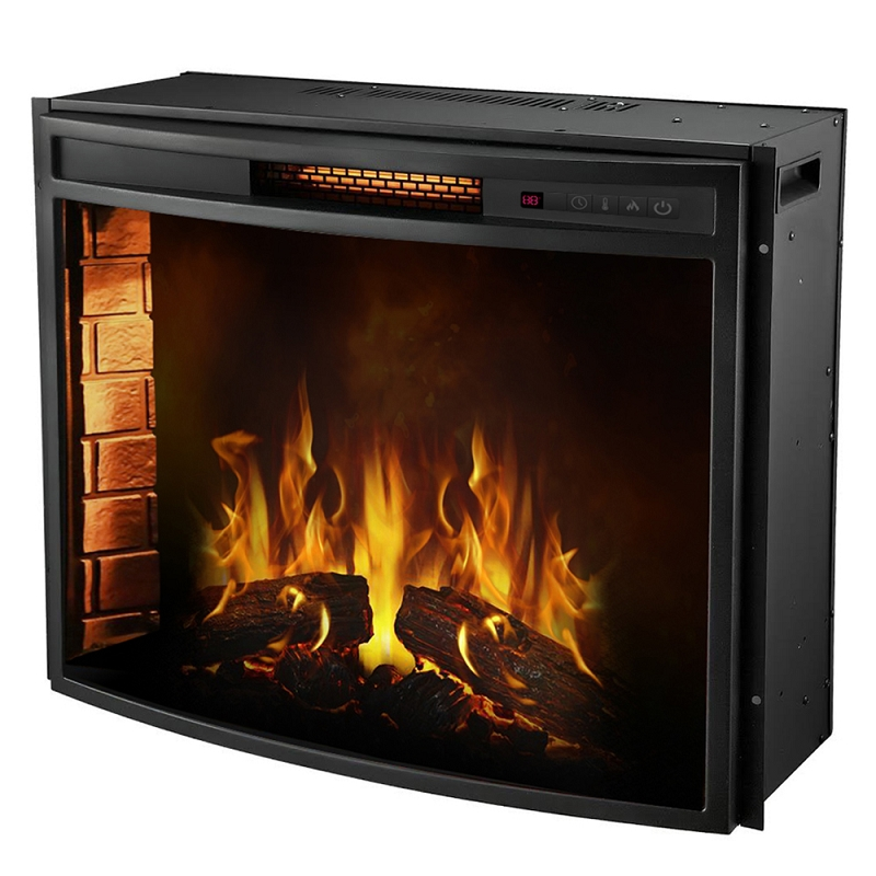 Moda Flame Elwood 28 Inch Curved Electric Fireplace Insert