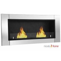 Moda Flame Valencia Wall Mounted Bio Ethanol Fireplace