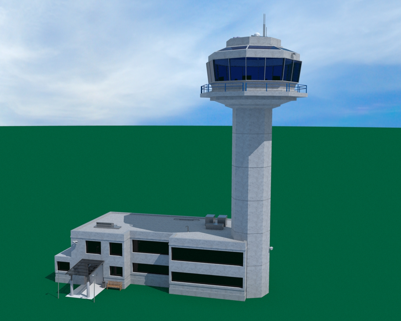 Airport Air Traffic Control Tower  Ethereal 3D  Online Store