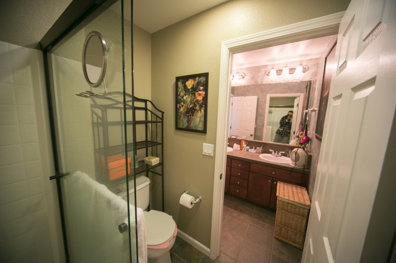 Lincoln California  Stairs Loft Upstairs Bathroom