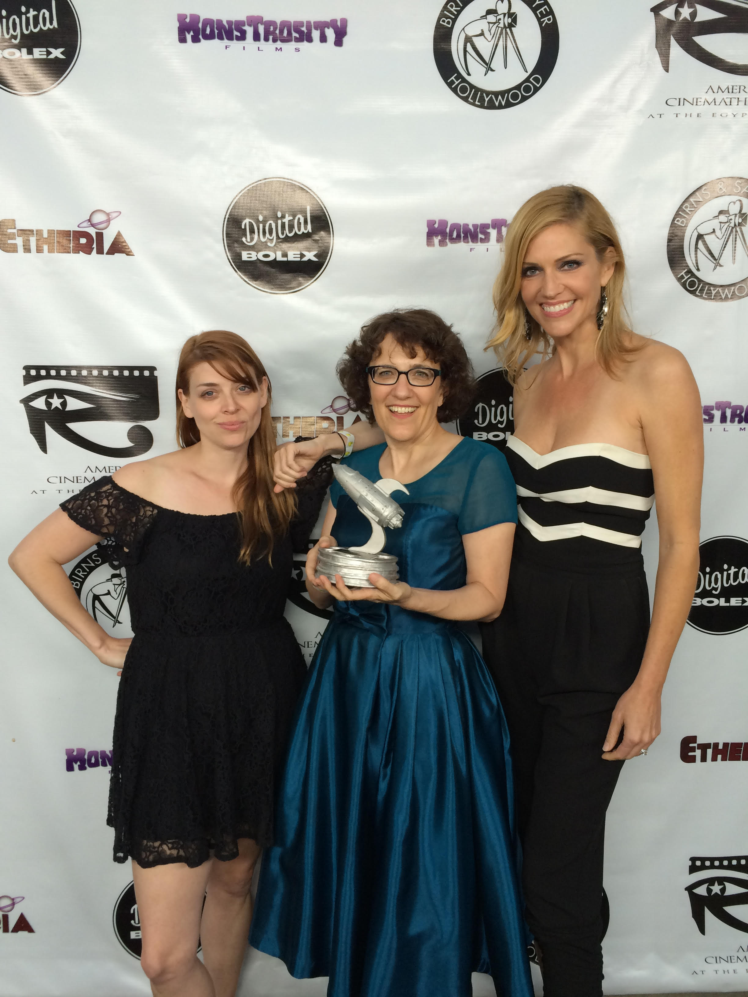 Jane Espenson, Tricia Helfer, and Amber Benson at Etheria Film Night 2015
