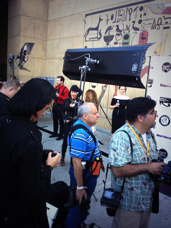 Behind the scenes of the red carpet at Etheria Film Night 2015