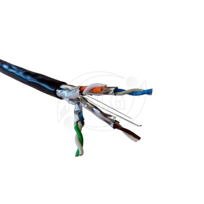 Waterproof Shielded Cat6a Lan Cable For Outdoor Ethernet 4