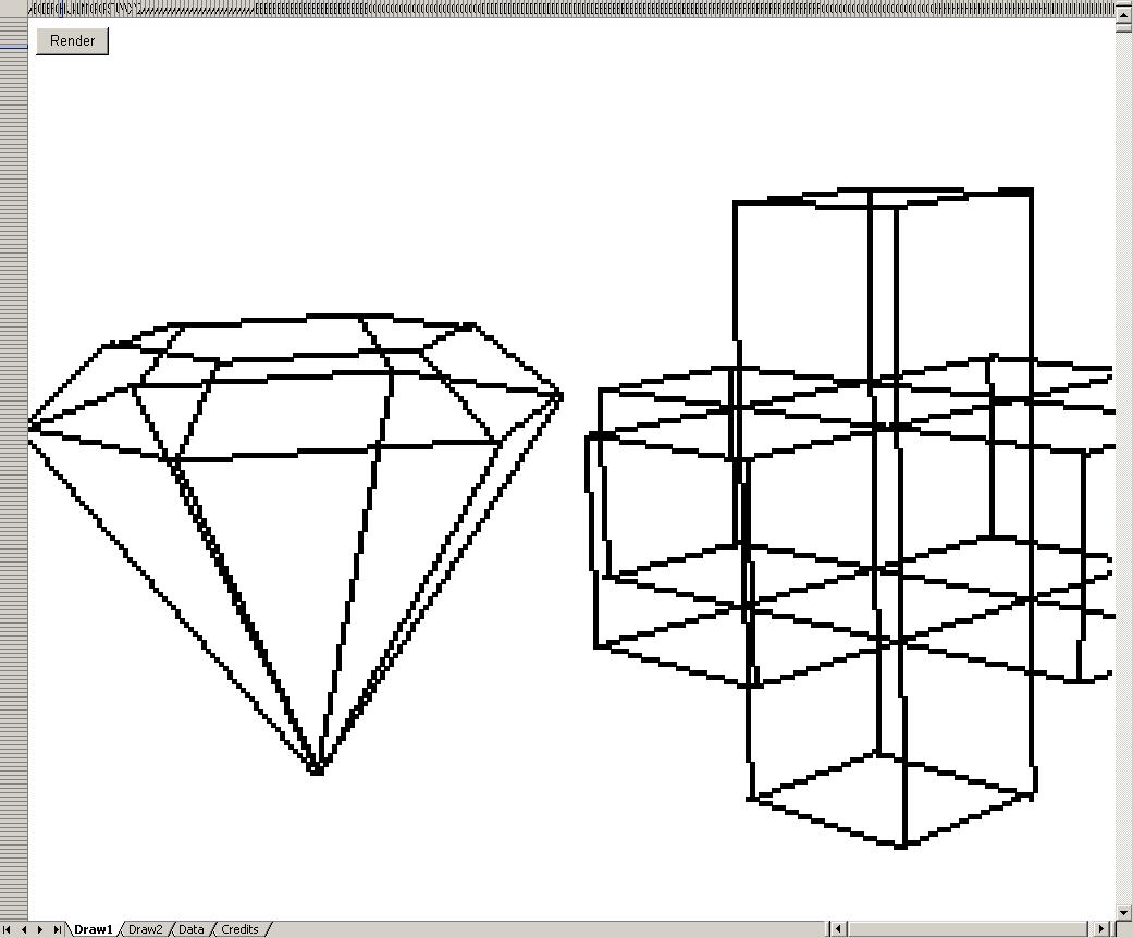 Excel 3D Rendering