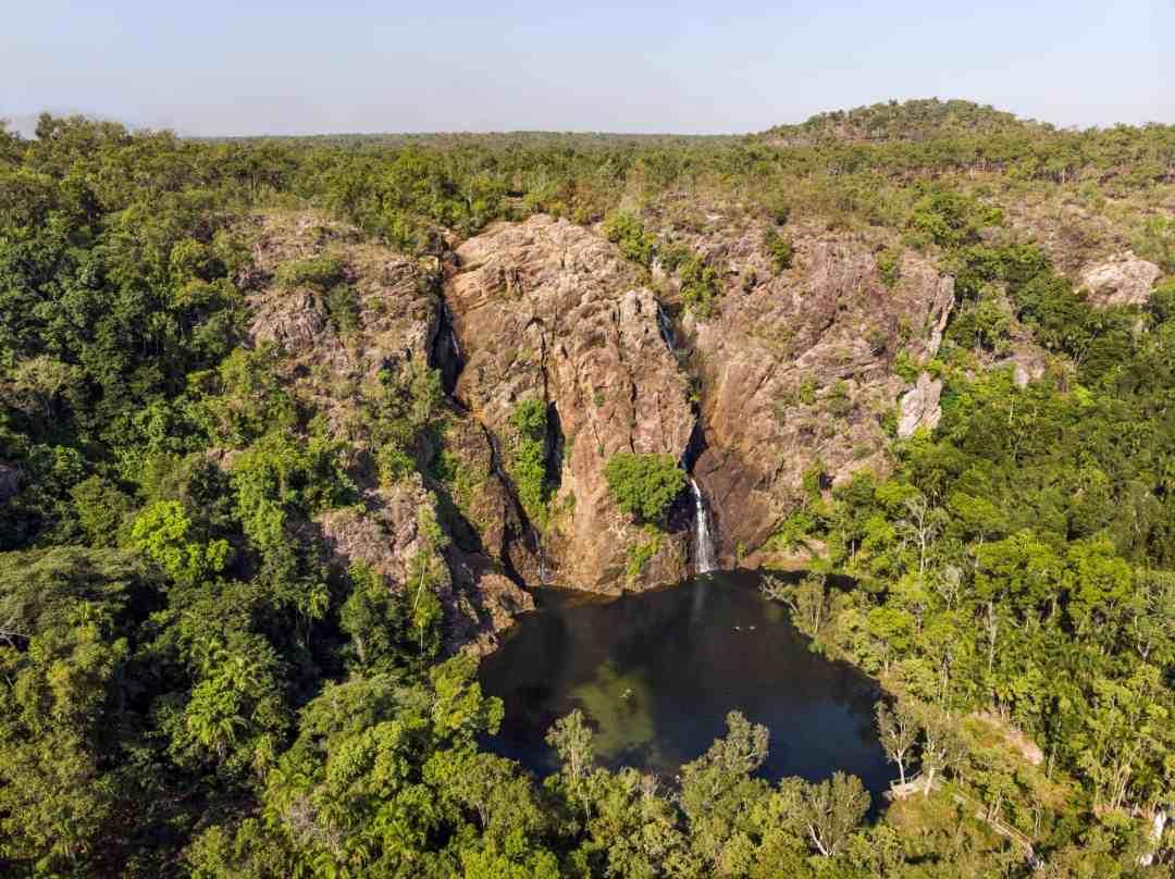 Wangi Falls from the air