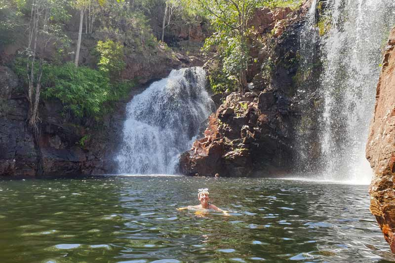 Swimmer in Florence Falls.