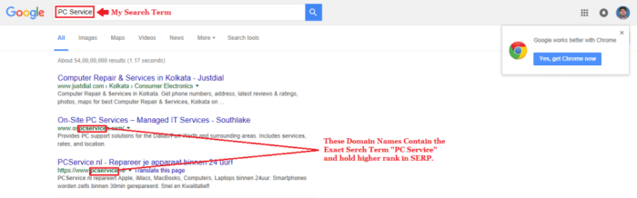 Domain Name Selection Guide Google Screenshot 2
