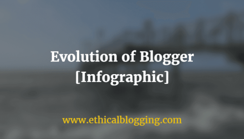 Evolution of Blogger: Know Your Blogging Style Before Starting A Blog (Infographic)