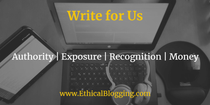 Ethical Blogging Write for Us Featured Image