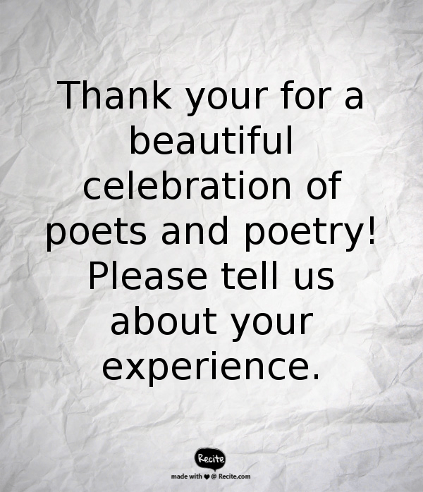 Reflecting on 30 Days of Poem-ing