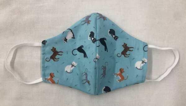 Aqua Cats Mask for Virus Protection