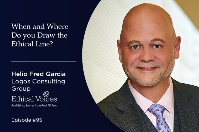 When and where do you draw the ethical line? – Helio Fred Garcia