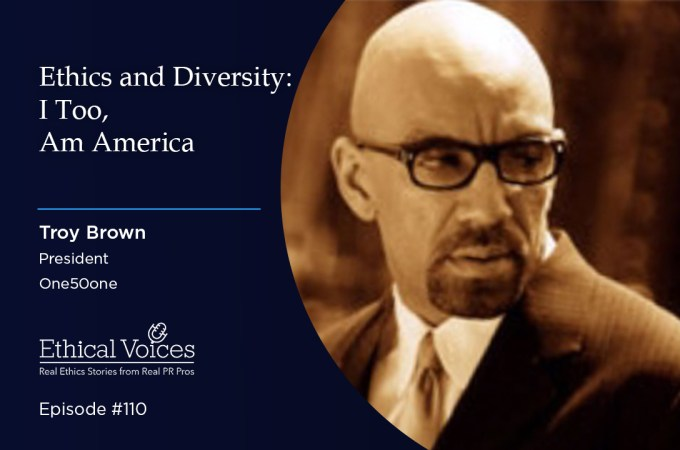 Ethics and Diversity: I Too, Am America – Troy Brown