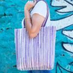 Purple White Stripe Non-Glitter