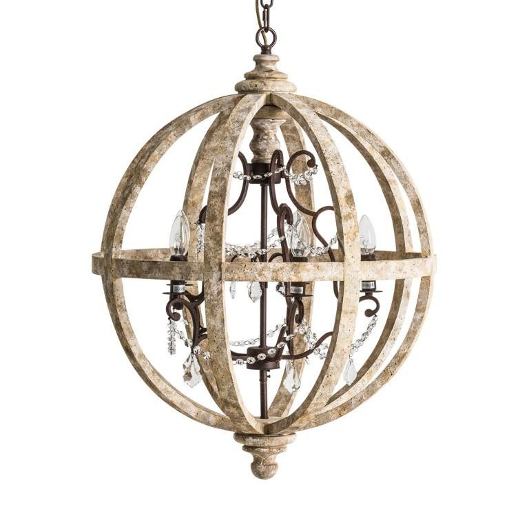 Lampadario provenzale sfera  arredamento provenzale