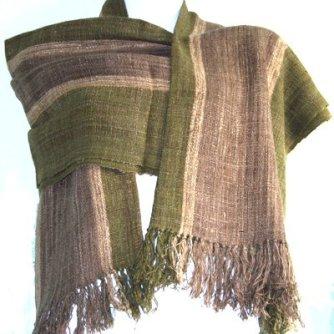 African wild silk scarves