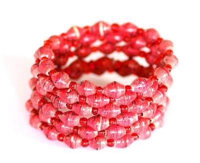 Handmade bracelet from Uganda