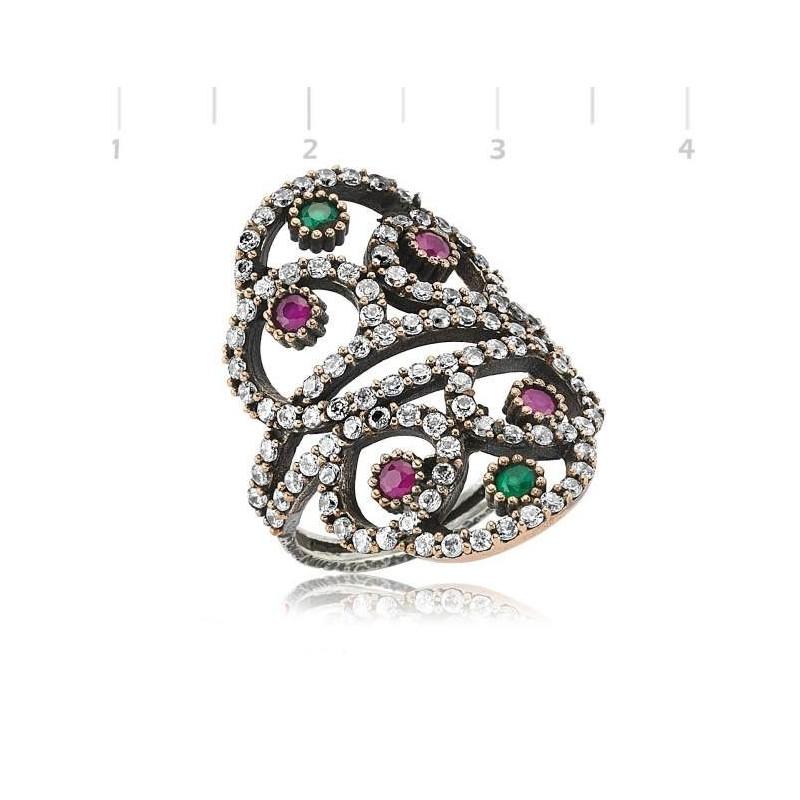 Acheter bague bijoux en argent harim sultan pierre rose
