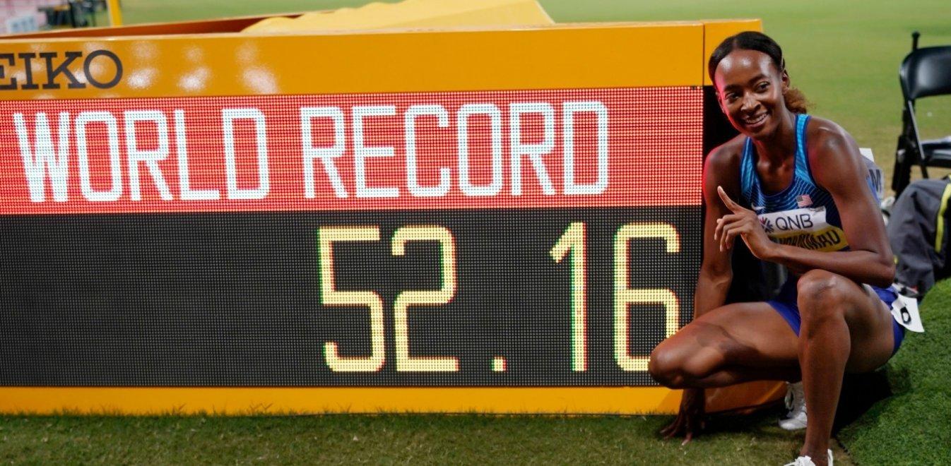 Παγκόσμιο ρεκόρ στα 400 μ. εμπόδια από την τρομερή Μουχάμαντ (vid)