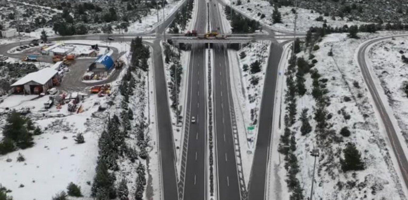 Ζηνοβία: Η Εθνική Αθηνών - Λαμίας στα λευκά - Βίντεο από drone