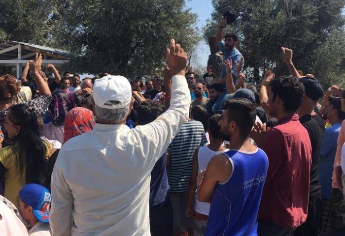 Μυτιλήνη: Διαδήλωση προσφύγων στο Καρά Τεπέ για τον δικό τους Stavros (pics + vid)