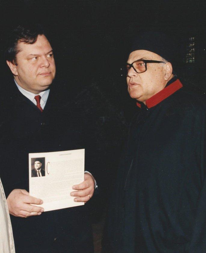 Ο Χαρίλαος Ταλιαδώρος με τον Βαγγέλη Βενιζέλο