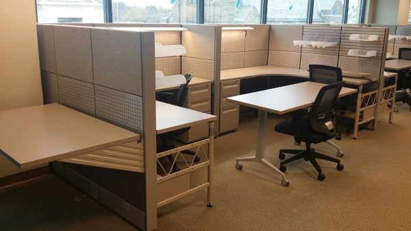 used office furniture Blend of New and Used Office Furniture Creates Beautiful
