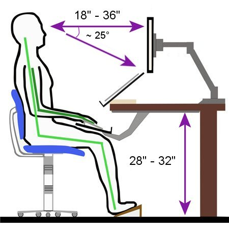 ergonomic chair posture office support factors in to ergonomics | ethosource