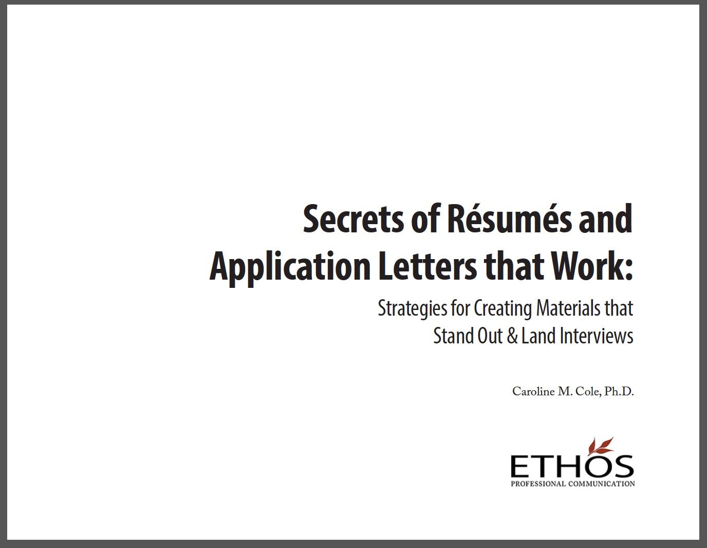 Secrets of Résumés and Application Letters that Work, Complete