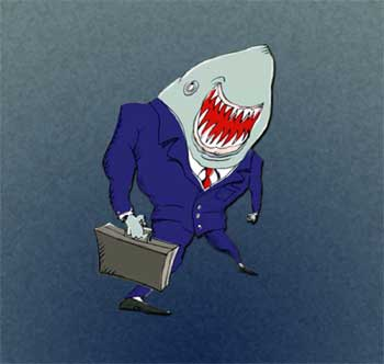 uomo d'affari squalo
