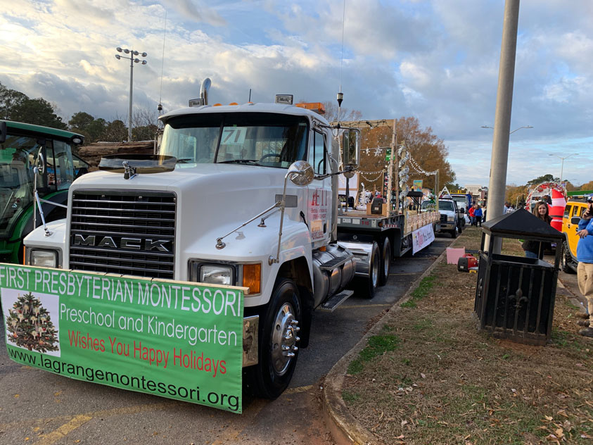 ETI Sponsored First Presbyterian Montessori Christmas Parade Float 1st Place School Division