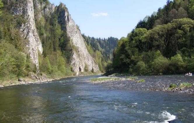 Slovakija. Raftingas Dunajec upe