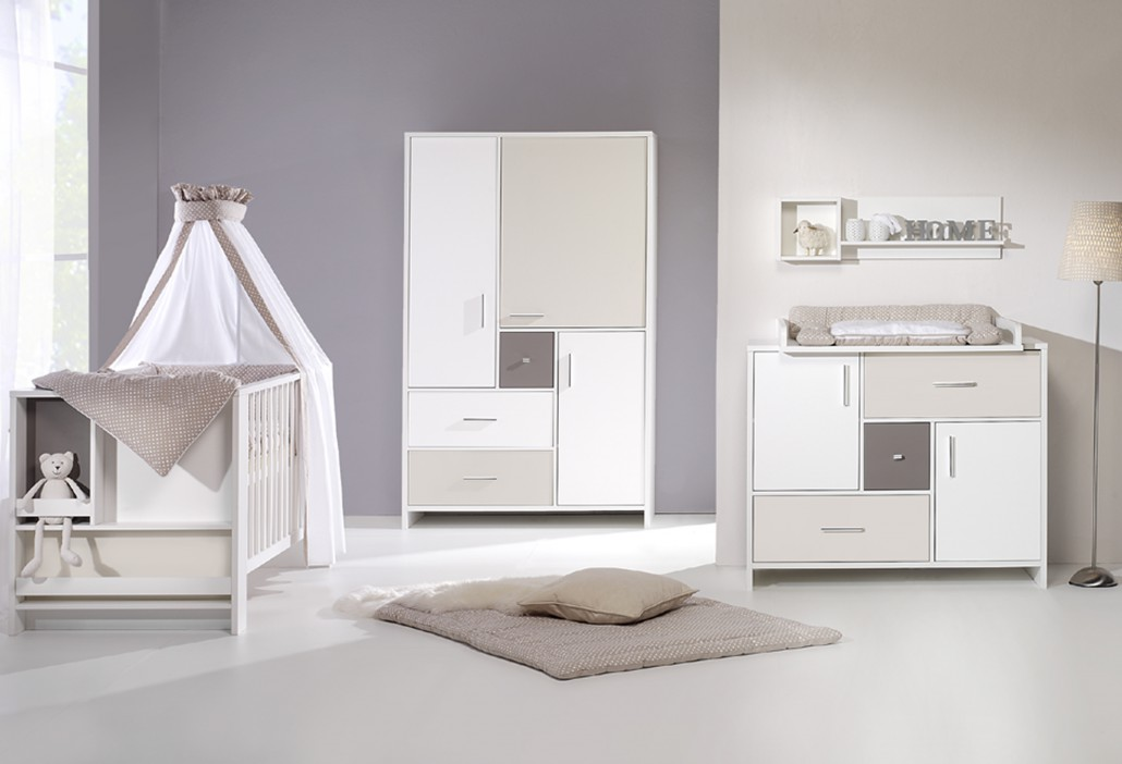 Chambre bb lit commode armoire Candy Beige Schardt  Chambre bb