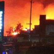 آتشسوزی در بندر امامصاحب