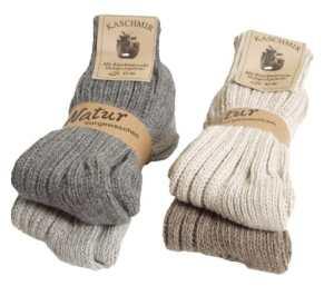BRUBAKER Chaussettes tricotées en Cachemire – Lot de 4 Paires – 48% Laine de mouton et 40% Cachemire – Unisexe – 35-38 – Multicolore