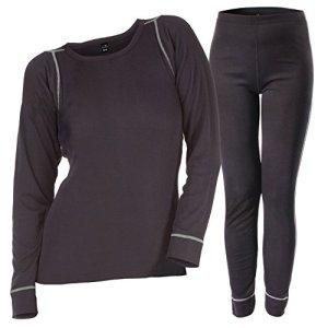 CFLEX – Ensemble de sous-vêtements thermiques – technologie POLARDRY – femme – noir/gris – taille L