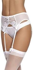 Merry Style Femme Porte-jarretelles 911 (Blanc, M)