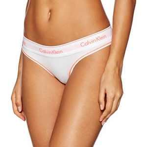 Calvin Klein underwear Thong, Tanga Femme, Blanc (White_Bright Nectar White Wb), 36 (Taille Fabricant: Small)