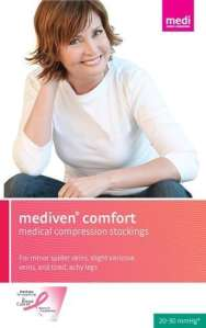 Medi Comfort Compression Pantyhose 30-40mmHg Open Toe, IV, Natural by Mediven