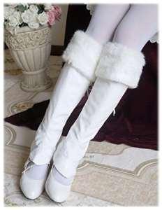 Fanplusfriend – Guêtres – Femme taille unique – blanc – Taille Unique