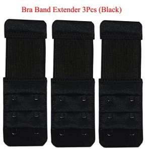 KOOYOL Bretelles de soutien-gorge élastique Lingerie prolongateurs 3crochets/ 2crochets Extension 3pcs
