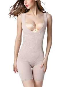 Lingerie sculptante Combinaisons Body Gainant Maintien Gaine Amincissante Minceur Shapewear – Nude – Taille Asiatique XL