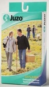 Juzo 2002ADSB53 III III Soft Knee High Open Toe Regular 30-40mmHg with Silicone Border – Chocolate by Juzo