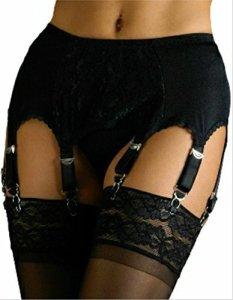 Elaine Edwards Uni Style Vintage Jarretelle/Porte Jaretelle 8 Sangles – Noir, S Tour de taille 73-76cm